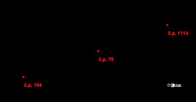 Úpice 70 na parcele st. 292 v KÚ Úpice, Katastrální mapa