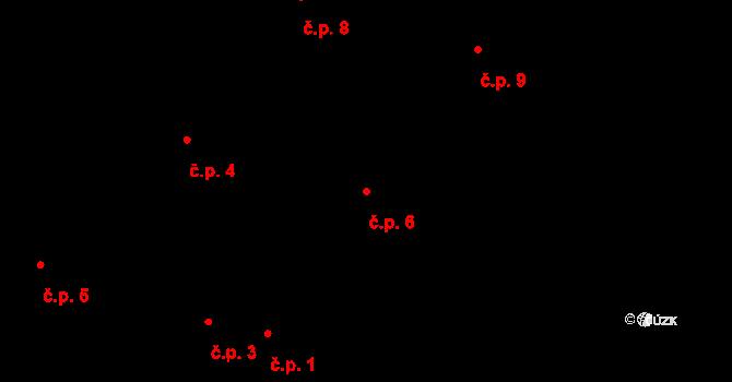 Horní Paseky 6, Aš na parcele st. 107 v KÚ Horní Paseky, Katastrální mapa