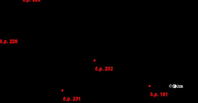 Březno 232 na parcele st. 379 v KÚ Březno u Mladé Boleslavi, Katastrální mapa