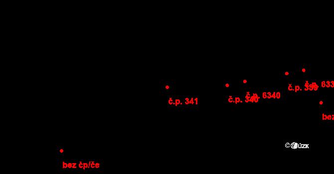 Prštné 341, Zlín na parcele st. 431 v KÚ Prštné, Katastrální mapa