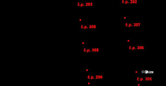 Valcha 308, Plzeň na parcele st. 3151 v KÚ Valcha, Katastrální mapa