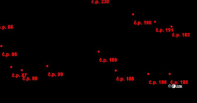 Hradec Králové 189 na parcele st. 231 v KÚ Hradec Králové, Katastrální mapa