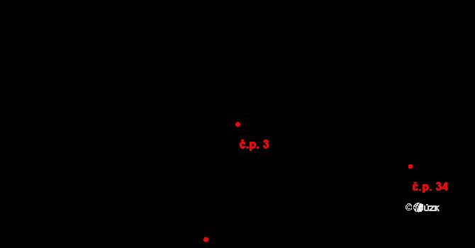 Malé Březno 3 na parcele st. 91 v KÚ Malé Březno, Katastrální mapa