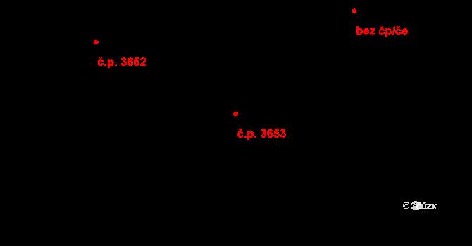 Frýdek 3653, Frýdek-Místek na parcele st. 5805/13 v KÚ Frýdek, Katastrální mapa