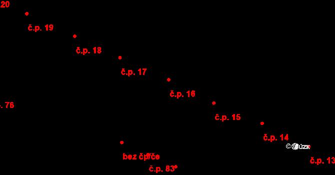 Karolín 16 na parcele st. 47 v KÚ Karolín u Sulimova, Katastrální mapa