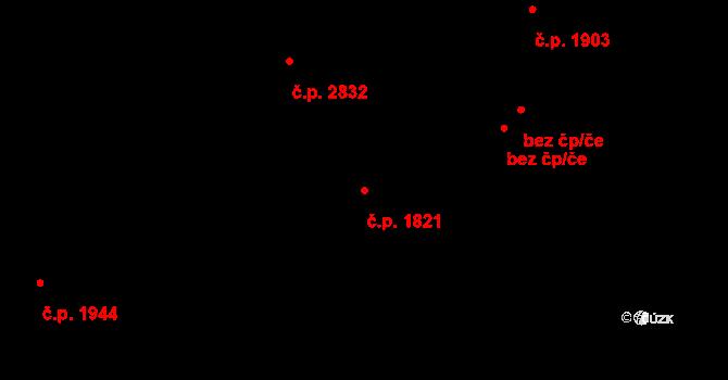 Ústí nad Labem-centrum 1821, Ústí nad Labem na parcele st. 932 v KÚ Ústí nad Labem, Katastrální mapa