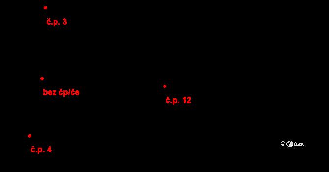 Malá Chuchle 12, Praha na parcele st. 22/1 v KÚ Malá Chuchle, Katastrální mapa