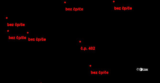 Polabiny 402, Pardubice na parcele st. 5182/1 v KÚ Pardubice, Katastrální mapa