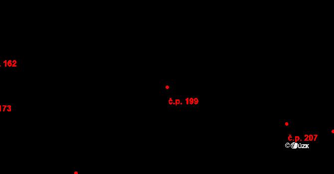 Bezdružice 199 na parcele st. 226/1 v KÚ Bezdružice, Katastrální mapa