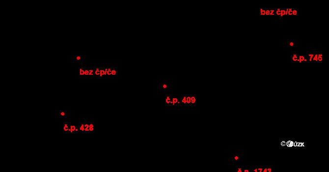 Frýdlant 409, Frýdlant nad Ostravicí na parcele st. 2401/3 v KÚ Frýdlant nad Ostravicí, Katastrální mapa