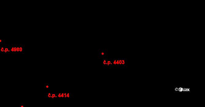 Zlín 4403 na parcele st. 6878 v KÚ Zlín, Katastrální mapa