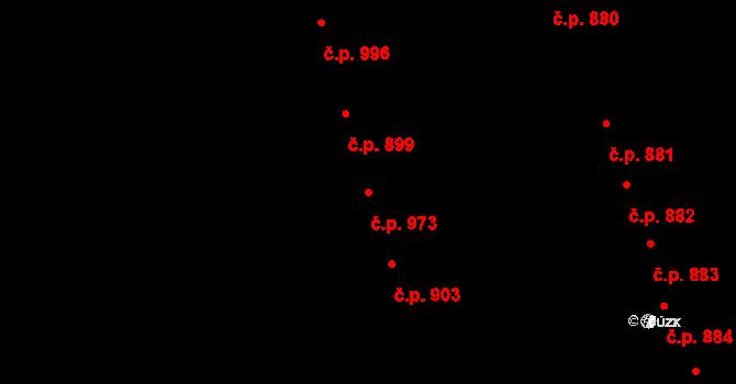 Nivnice 973 na parcele st. 2282/2 v KÚ Nivnice, Katastrální mapa