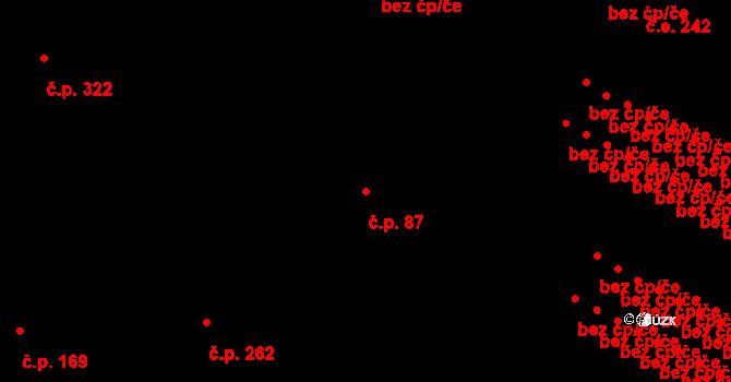 Nová Role 87 na parcele st. 82 v KÚ Nová Role, Katastrální mapa