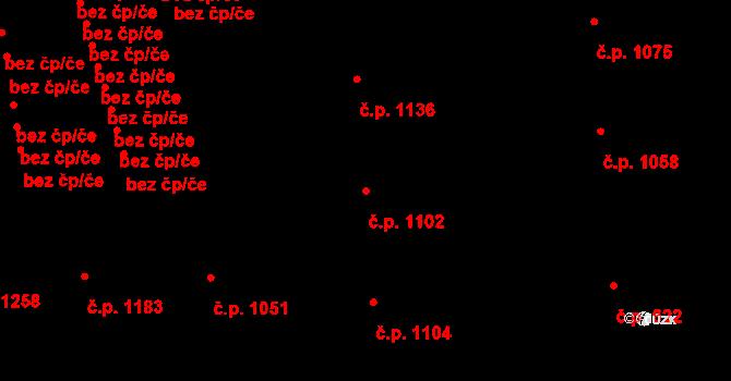 Žižkov 1102, Praha na parcele st. 1085 v KÚ Žižkov, Katastrální mapa