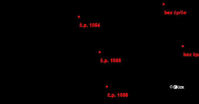 Nový Hradec Králové 1055, Hradec Králové na parcele st. 1305 v KÚ Nový Hradec Králové, Katastrální mapa