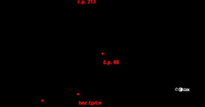 Souš 65, Most na parcele st. 185/3 v KÚ Most II, Katastrální mapa