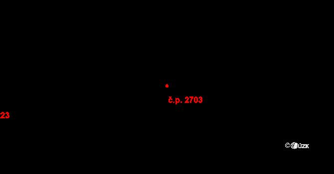 Východní Předměstí 2703, Plzeň na parcele st. 2689/30 v KÚ Plzeň, Katastrální mapa