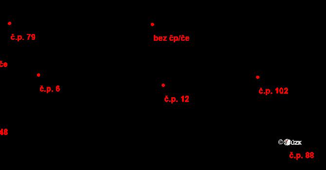 Salaš 12, Zlín na parcele st. 2 v KÚ Salaš u Zlína, Katastrální mapa