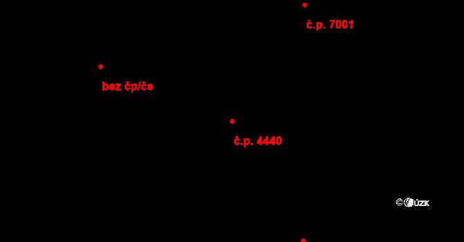 Zlín 4440 na parcele st. 7207/1 v KÚ Zlín, Katastrální mapa