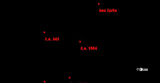 Královo Pole 1564, Brno na parcele st. 4377/2 v KÚ Královo Pole, Katastrální mapa