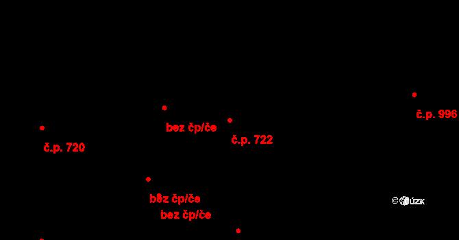 Kralupy nad Vltavou 722 na parcele st. 679 v KÚ Kralupy nad Vltavou, Katastrální mapa