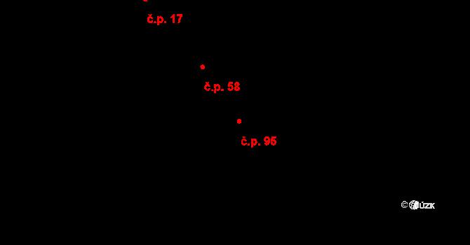 Strážkovice 95 na parcele st. 136 v KÚ Strážkovice, Katastrální mapa