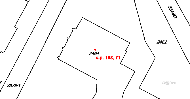 Lobzy 168, Plzeň, Katastrální mapa