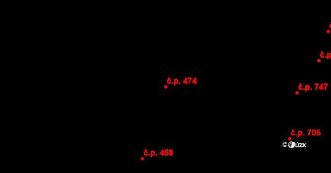 Nivnice 474 na parcele st. 2068/10 v KÚ Nivnice, Katastrální mapa
