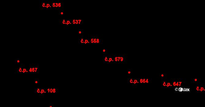 Nusle 579, Praha na parcele st. 1443 v KÚ Nusle, Katastrální mapa