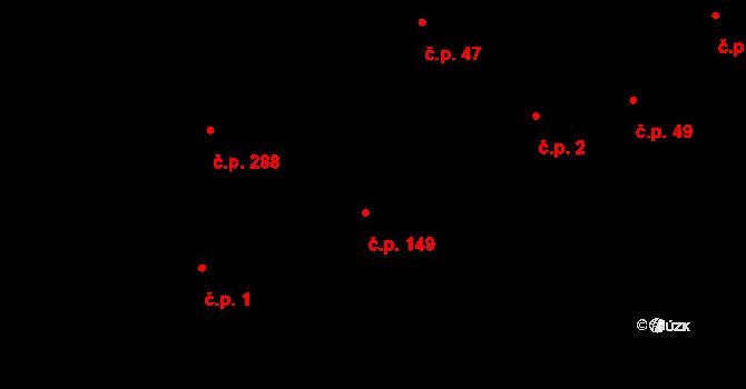 Davle 149 na parcele st. 2/2 v KÚ Davle, Katastrální mapa