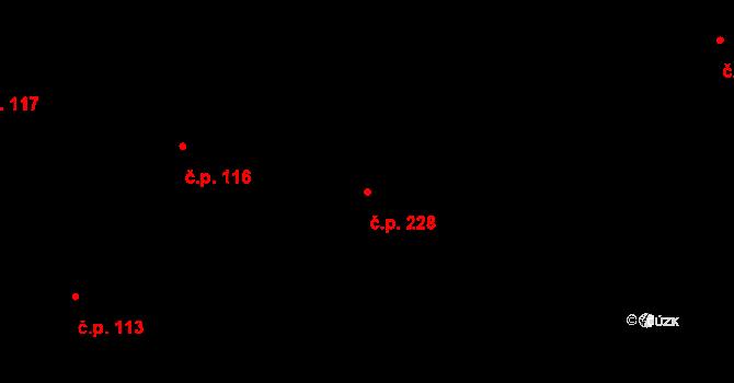 Trnová 228, Pardubice na parcele st. 387 v KÚ Trnová, Katastrální mapa
