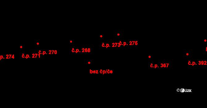 Humny 273, Pchery na parcele st. 470 v KÚ Pchery, Katastrální mapa