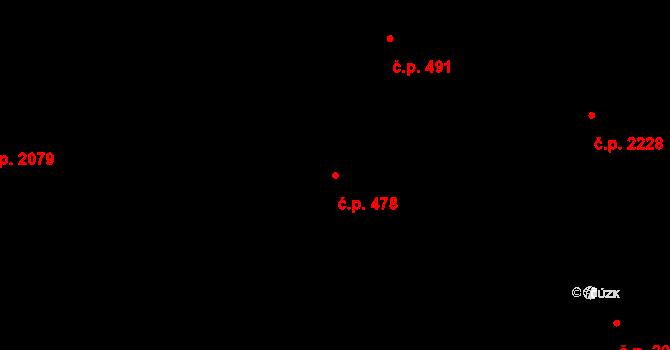 Benešov 478 na parcele st. 57 v KÚ Benešov u Prahy, Katastrální mapa