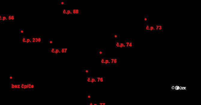 Slavonice 75 na parcele st. 321 v KÚ Slavonice, Katastrální mapa