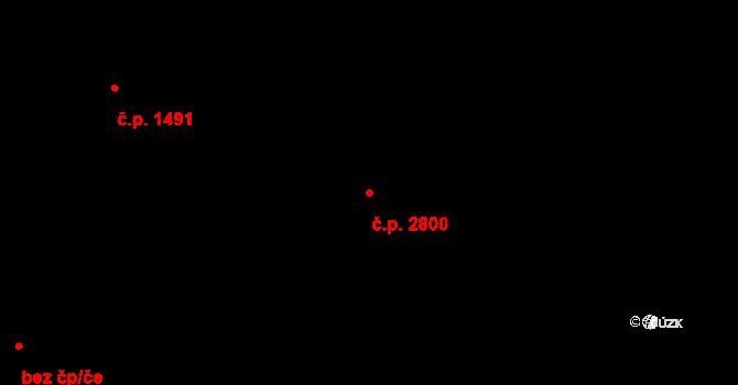 Moravská Ostrava 2800, Ostrava na parcele st. 1083/5 v KÚ Moravská Ostrava, Katastrální mapa