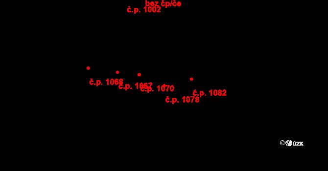 Újezd u Brna 1078 na parcele st. 1660/2 v KÚ Újezd u Brna, Katastrální mapa