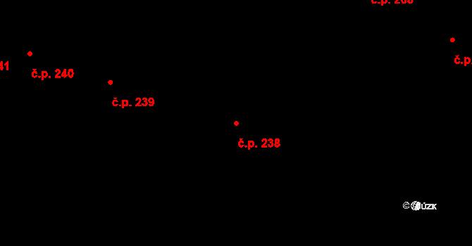 Miroslav 238 na parcele st. 976 v KÚ Miroslav, Katastrální mapa