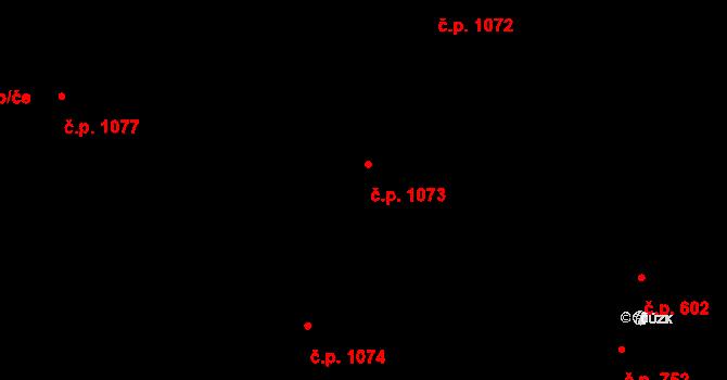 Nivnice 1073 na parcele st. 1981/73 v KÚ Nivnice, Katastrální mapa