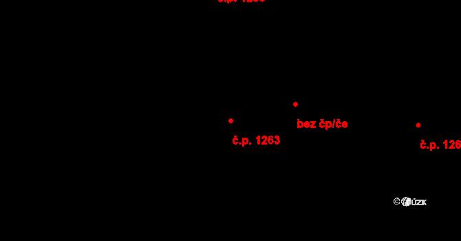 Polanka nad Odrou 1263, Ostrava na parcele st. 1564/7 v KÚ Polanka nad Odrou, Katastrální mapa