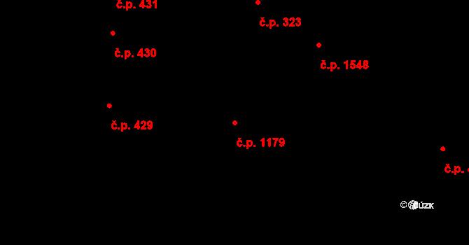 Holešovice 1179, Praha na parcele st. 1022/2 v KÚ Holešovice, Katastrální mapa