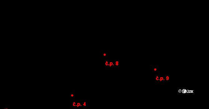 Horní Paseky 8, Aš na parcele st. 109 v KÚ Horní Paseky, Katastrální mapa