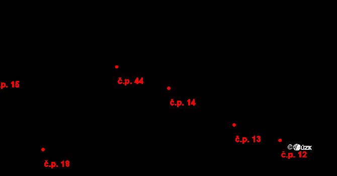 Sedlejov 14 na parcele st. 14 v KÚ Sedlejov, Katastrální mapa