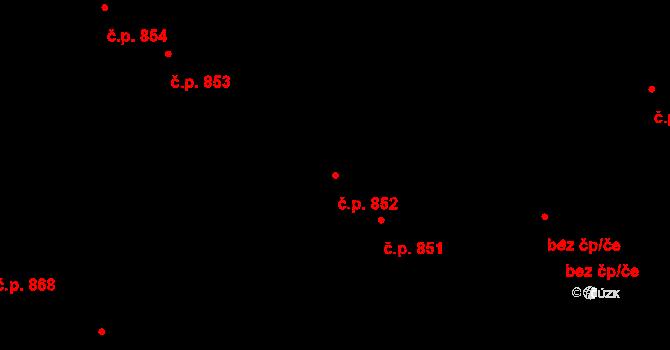 Švermov 852, Kladno na parcele st. 628 v KÚ Hnidousy, Katastrální mapa