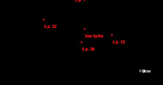 Lhota 38, Letovice na parcele st. 11/1 v KÚ Lhota u Letovic, Katastrální mapa