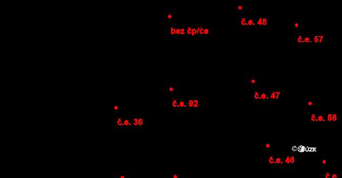 Prštné 92, Zlín na parcele st. 832 v KÚ Prštné, Katastrální mapa