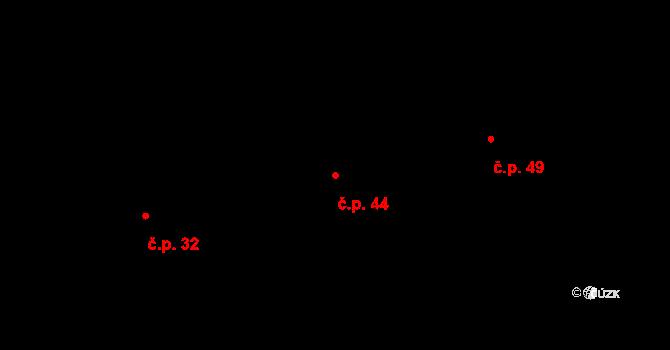Kuklík 44 na parcele st. 87 v KÚ Kuklík, Katastrální mapa