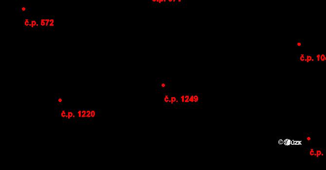 Malenovice 1249, Zlín na parcele st. 2375 v KÚ Malenovice u Zlína, Katastrální mapa