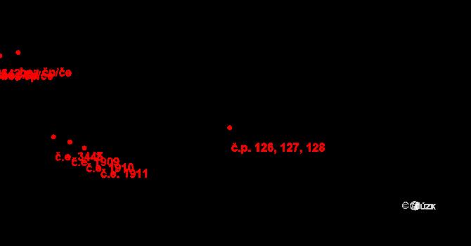 Zlín 126,127,128 na parcele st. 5938 v KÚ Zlín, Katastrální mapa
