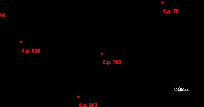 Bolatice 790 na parcele st. 759/3 v KÚ Bolatice, Katastrální mapa