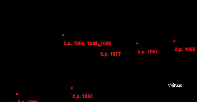 Krč 1077, Praha na parcele st. 1255/11 v KÚ Krč, Katastrální mapa